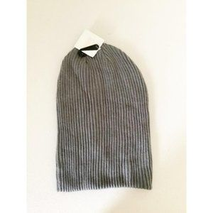14th & Union Knit Beanie Hat Gray New One Size